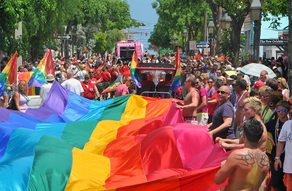 people in pride fest parade