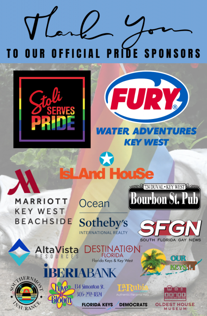Thank you to our official Pride sponsors
