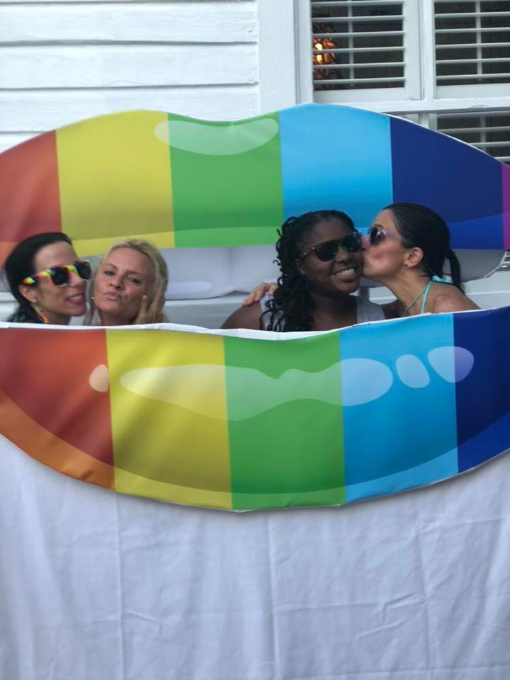 kissing booth during womenfest